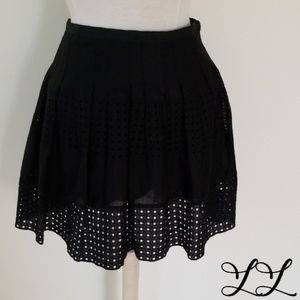Gap Skirt Black Cotton Lace Mini Sexy Short Light